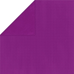 Bo-Bunny - Double Dot Cardstock - Grape Dot