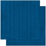 Bo-Bunny - Double Dot Cardstock - Dark Denim Stripe