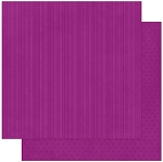 Bo-Bunny - Double Dot Cardstock - Grape Stripe