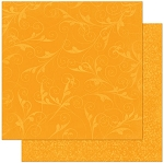 Bo-Bunny - Double Dot Cardstock - Orange Citrus Flourish