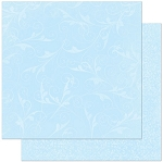 Bo-Bunny - Double Dot Cardstock - Powder Blue Flourish