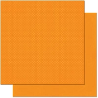 Bo Bunny - Double Dot Cardstock - Pumpkin Dot