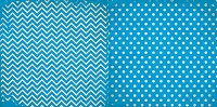 Bo Bunny - Double Dot Cardstock - Brilliant Blue Chevron