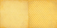 Bo Bunny - Double Dot Cardstock - Buttercup Chevron
