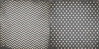 Bo Bunny - Double Dot Cardstock - Charcoal Chevron
