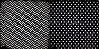Bo Bunny - Double Dot Cardstock - Licorice Chevron