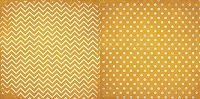 Bo Bunny - Double Dot Cardstock - Maize Chevron