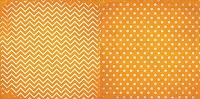 Bo Bunny - Double Dot Cardstock - Orange Citrus Chevron