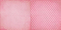 Bo Bunny - Double Dot Cardstock - Passion Fruit Chevron