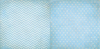 Bo Bunny - Double Dot Cardstock - Powder Blue Chevron