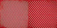 Bo Bunny - Double Dot Cardstock - Wild Berry Chevron