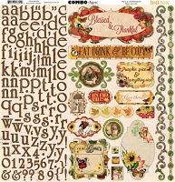 Bo Bunny - Enchanted Harvest Collection - Combo Sticker (12