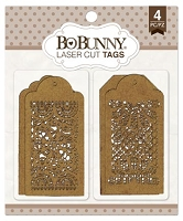Bo Bunny - Laser Cut Chipboard - Lace Tags