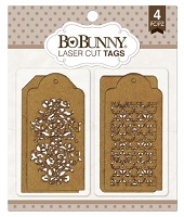 Bo Bunny - Laser Cut Chipboard - Trellis Tags
