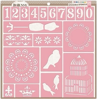 Bo Bunny - Stickable Stencils - Bliss (set of 20)
