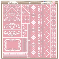 Bo Bunny - Stickable Stencils - Borders (set of 23)