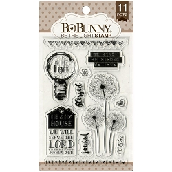 Bo Bunny - Faith Collection - Be The Light Clear Stamp