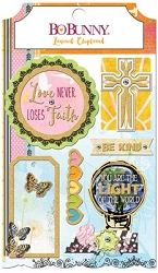 Bo Bunny - Faith Collection - Layered Chipboard Stickers