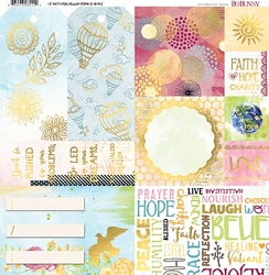 Bo Bunny - Faith Collection - Foil Vellum 12