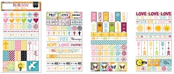 Bo Bunny - Faith Collection - Clear Stickers