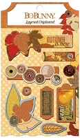 Bo Bunny - Farmers Market Collection - Layered Chipboard