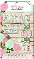 Bo Bunny - Felicity Collection - Layered Chipboard