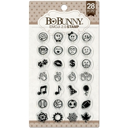 Bo Bunny - Clear Stamps - Emoji 2.0 Clear Stamp