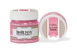Bo Bunny - Double Dot Glitter Paste - Coral Glitter Paste