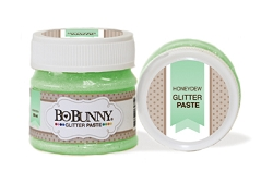 Bo Bunny - Double Dot Glitter Paste - Honeydew Glitter Paste