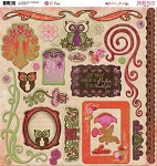 Bo Bunny-Garden Girl-Chipboard Die Cuts
