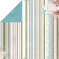 Bo Bunny - Garden Journal Collection - Stripe Paper