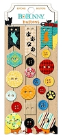 Bo Bunny - Happy Tails Collection - Buttons
