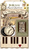 Bo Bunny - Heritage Collection - Layered Chipboard