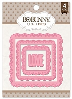 Bo Bunny - Cutting Dies - Love Squared Dies