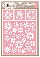 Bo Bunny - Stickable Stencils - Flower Power