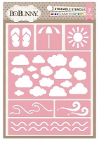 Bo Bunny - Stickable Stencils - Summertime