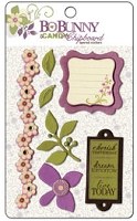 Bo Bunny - Jazmyne Collection - iCandy 3D Chipboard Layered Stickers