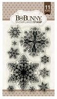 Bo Bunny - Clear Stamp - Snowflakes