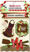 Bo Bunny - Kiss The Cook Collection - Layered Chipboard