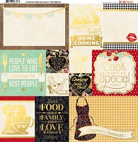 Bo Bunny - Kiss The Cook Collection - Foil Vellum Paper
