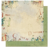 Bo Bunny - Learning Curve Collection - 12x12 Double Sided Paper - Learning Curve Apple Pie