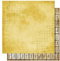 Bo Bunny - Learning Curve Collection - 12x12 Double Sided Paper - Learning Curve Crossword
