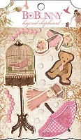 Bo Bunny - Little Miss Collection - Layered Chipboard