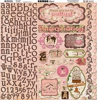 Bo Bunny - Little Miss Collection - Combo Sticker