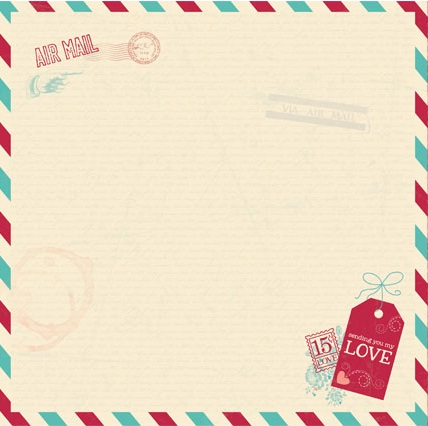 bo bunny - love letters collection - 12x12 double sided paper