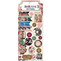 Bo Bunny - Love & Lace Collection - Buttons