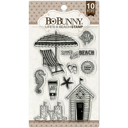Bo Bunny - Make A Splash Collection - Life's A Beach Clear Stamp