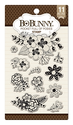 Bo Bunny - Clear Stamps - Pocket Full Of Posies Stamp