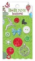 Bo Bunny - Mistletoe Collection - Buttons