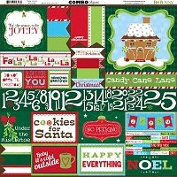 Bo Bunny - Mistletoe Collection - 12x12 Combo Sticker Sheet